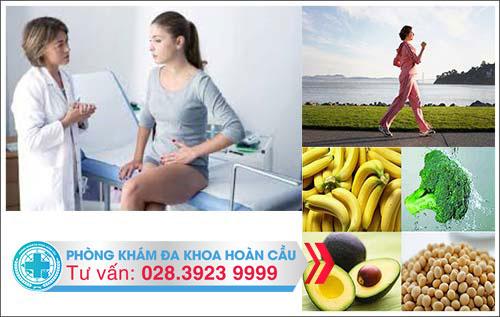 Ăn uống và vận động tốt cho người bị u xơ tử cung